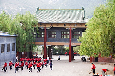 Wushu Institute at Tagou Training school for kung fu students, Shaolin Monastery, Shaolin, birthplace of Kung Fu martial art, Henan Province, China, Asia
