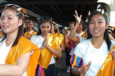 University parade, Bangkok, Thailand, Southeast Asia, Asia