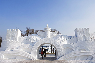 Snow and Ice Sculpture Festival at Sun Island Park, Harbin, Heilongjiang Province, Northeast China, Asia