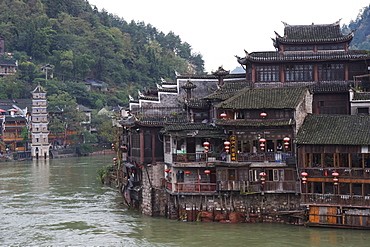Riverside, old town of Fenghuang, Hunan Province, China, Asia