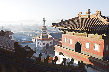 Puning Si outer temple dating from 1755, Chengde city, UNESCO World Heritage Site, Hebei Province, China, Asia
