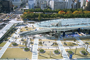 Skywalk, city centre, Nagoya, Japan, Asia