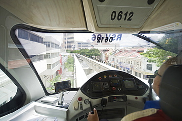 Monorail driver, Kuala Lumpur, Malaysia, Southeast Asia, Asia