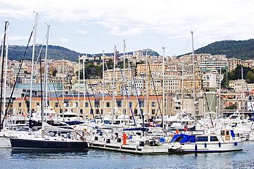 Boats in Porto Vecchio, Genoa (Genova), Liguria, Italy, Europe