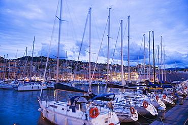 Boats in Porto Vecchio Marina, Genoa (Genova), Liguria, Italy, Europe