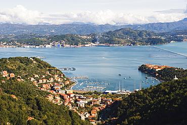 Harbour at Porto Venere, Cinque Terre, UNESCO World Heritage Site, Liguria, Italy, Europe
