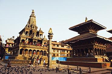 Krishna Mandir, a 7th century Hindu temple, UNESCO World Heritage Dite, Durbar Square, Patan, Kathmandu Valley, Nepal, Asia
