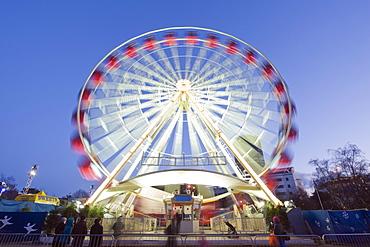 Winter Wonderland Big Wheel, Civic Centre, Cardiff, Wales, United Kingdom, Europe