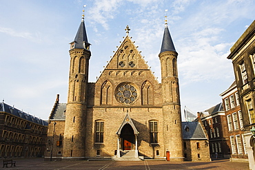 Church in Binnenhof courtyard, Den Haag (The Hague), Netherlands, Europe