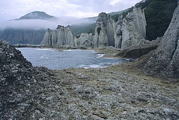 Hotokegaura cliffs, Shimokita peninsula, Aomori, Japan