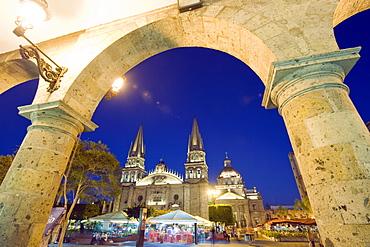 Cathedral in Plaza de Armas, Guadalajara, Mexico, North America