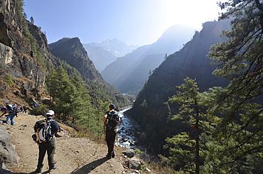 Kathmandu to Base Camp trek, Solu Khumbu Everest Region, Sagarmatha National Park, UNESCO World Heritage Site, Nepal, Himalayas, Asia