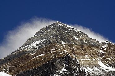 Mount Everest, 8850m, Solu Khumbu Everest Region, Sagarmatha National Park, UNESCO World Heritage Site, Nepal, Himalayas, Asia