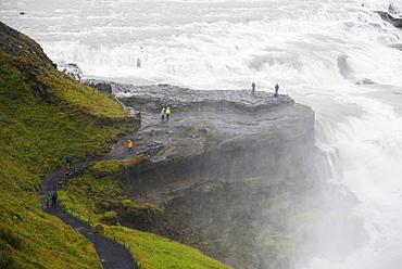 Gullfoss waterfall on the River Hvita, Iceland, Polar Regions