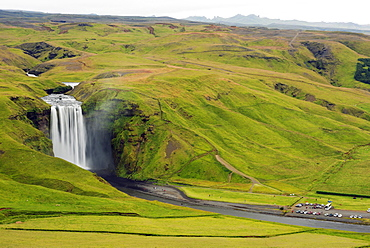 Skogafoss waterfall, Southern Region, Iceland, Polar Regions