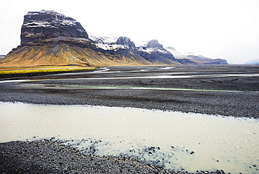 Glacial river melt, Iceland, Polar Regions