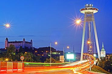 Novy Most Bridge and UFO viewing platform, Bratislava, Slovakia, Europe