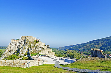 Ruins of Devin Castle, Danube River, Bratislava, Slovakia, Europe