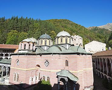 Rila Monastery, UNESCO World Heritage Site, Bulgaria, Europe