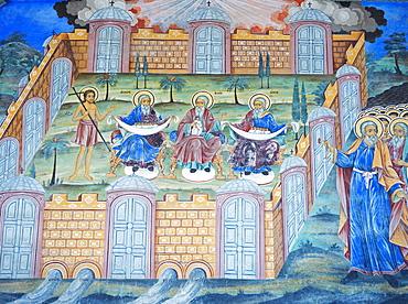 Frescoes at Rila Monastery, UNESCO World Heritage Site, Bulgaria, Europe
