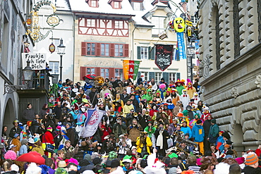Fasnact spring carnival parade, Lucerne, Switzerland, Europe