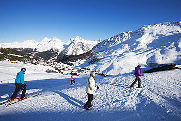Arosa mountain resort ski area, Graubunden, Swiss Alps, Switzerland, Europe