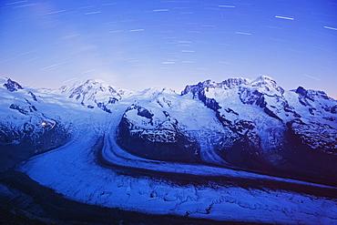 Monte Rosa Glacier and Breithorn Mountain, Zermatt, Valais, Swiss Alps, Switzerland, Europe