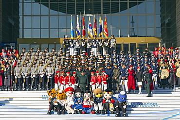 Honour Guard Ceremony, Seoul War Memorial, Seoul, South Korea, Asia
