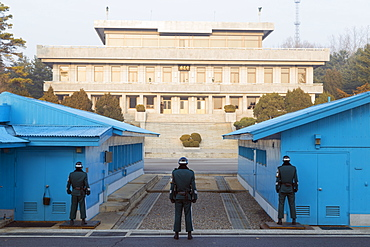 Border guards at the conference room, DMZ (Demilitarized Zone) on the border of North and South Korea, South Korea, Asia