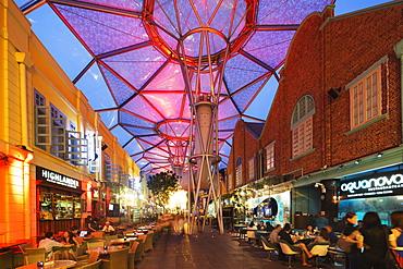 Nightlife, Clarke Quay, Singapore, Southeast Asia, Asia