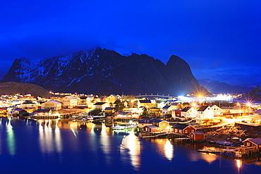 Reine waterfront, Moskenesoy, Lofoten Islands, Norway, Scandinavia, Europe