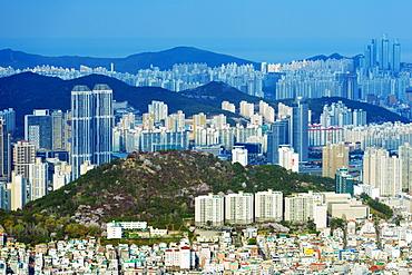 City skyline, Busan, South Korea, Asia