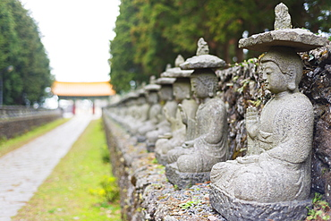 Statues, Gwaneumsa Buddhist Temple, Jeju Island, South Korea, Asia