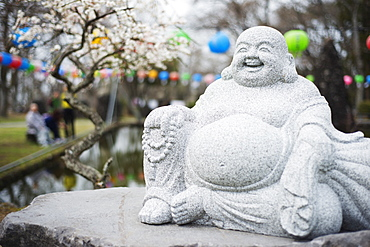 Statue, Gwaneumsa Buddhist Temple, Jeju Island, South Korea, Asia