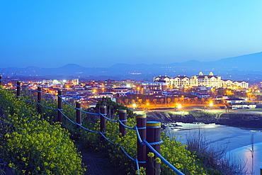 Coastal scenery at Gimnyeong Seongsegi beach resort, Jeju Island, South Korea, Asia