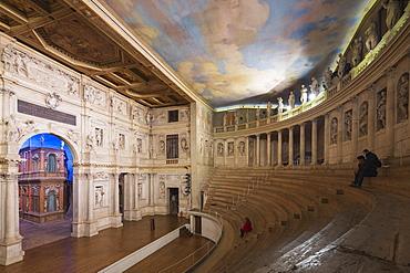 Teatro Olimpico, theatre designed Andrea Palladio, UNESCO World Heritage Site, Vicenza, Veneto, Italy, Europe
