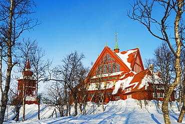 Kiruna church, Kiruna, Lapland, Arctic Circle, Sweden, Scandinavia, Europe