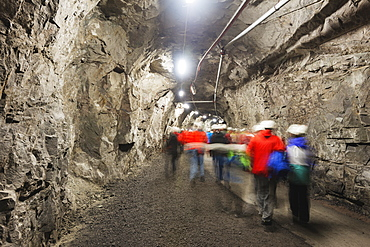 LKAB mining tour, largest underground iron ore mine in the world, Kiruna, Lapland, Arctic Circle, Sweden, Scandinavia, Europe