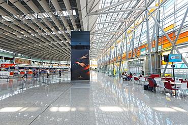 Departure lounge, Zvartnots International Airport, Yerevan, Armenia, Caucasus region, Central Asia, Asia