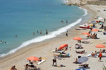 Beach area, Byblos, Lebanon, Middle East
