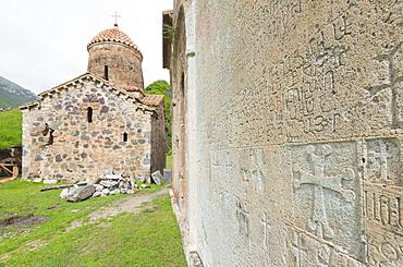 Dadivank Monastery, independent Armenian enclave officially within Azerbaijan, Nagorno-Karabakh, Armenia, Caucasus, Central Asia, Asia