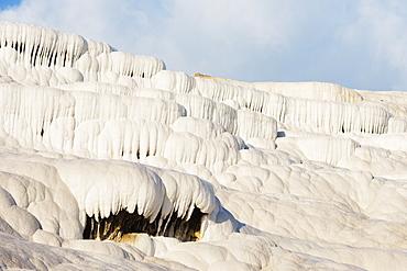White travertine basins, Pamukkale, UNESCO World Heritage Site, Western Anatolia, Turkey, Asia Minor, Eurasia