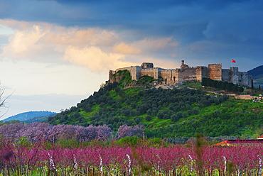 Selcuk Byzantine castle stands on the hill of Ayasuluk, Selcuk, Anatolia, Turkey, Asia Minor, Eurasia