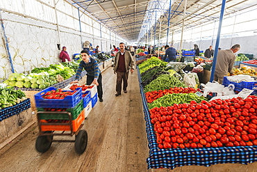 Fresh produce market, Fethiye, Anatolia, Turkey, Asia Minor, Eurasia