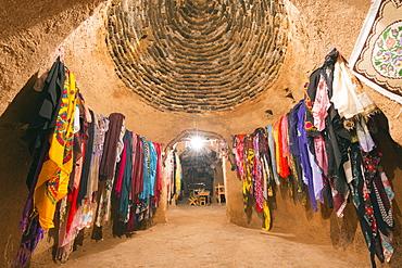 Inside a bee-hive mud brick house, village of Harran, Anatolia, Turkey, Asia Minor, Eurasia