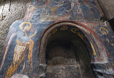 Frescoes at Eski Gumusler Monastery, UNESCO World Heritage Site, Cappadocia, Anatolia, Turkey, Asia Minor, Eurasia