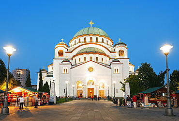 St. Sava Orthodox Church, built 1935, Belgrade, Serbia, Europe