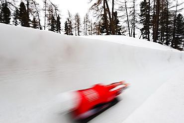Cresta run, Celerina olympia bob run, St. Moritz, winter, Engadine, Graubunden, Switzerland, Europe