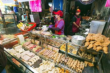 Ningxia night market, Taipei, Taiwan, Asia
