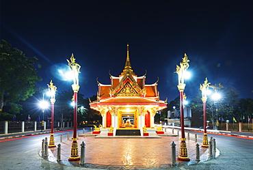City gate, Kanchanaburi, Thailand, Southeast Asia, Asia